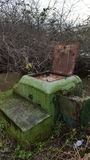 Posta del ROC di Niton Fotografia Stock