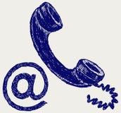 Posta del telefono illustrazione di stock