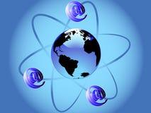 Posta dell'atomo Fotografia Stock