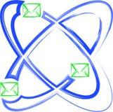 Posta dell'atomo Immagine Stock
