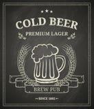 Posta della birra fredda Fotografia Stock Libera da Diritti