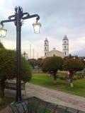 Posta della lampada della plaza fotografia stock libera da diritti