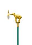 Posta della lampada di via Immagine Stock