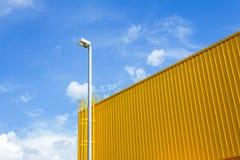 Posta della lampada e striscia dorata Immagini Stock Libere da Diritti