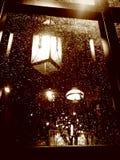 Posta della lampada un giorno piovoso Fotografia Stock