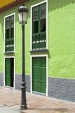 Posta della lampada in una città sull'isola di Gomera della La, Spagna Fotografia Stock