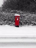 Posta della neve Immagini Stock