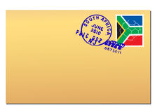 Posta della Sudafrica illustrazione di stock