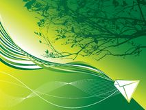 Posta della terra verde Fotografia Stock Libera da Diritti