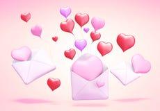 posta di amore 3D Immagini Stock