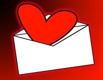 Posta di amore Immagine Stock Libera da Diritti
