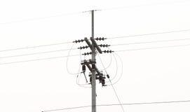 Posta di elettricità Immagini Stock