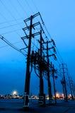 Posta di elettricità Fotografie Stock