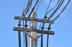 Posta di elettricità Immagine Stock