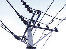 Posta di elettricità Fotografie Stock Libere da Diritti