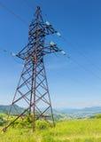 Posta di elettricità nelle montagne Immagine Stock Libera da Diritti