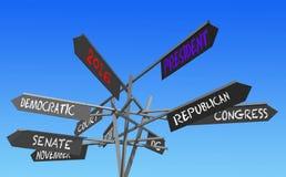 Posta di elezioni 2016 Immagini Stock Libere da Diritti