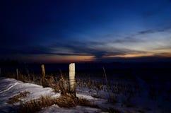 Posta di inverno di Midwest Fotografia Stock