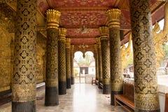 Posta di Wat in Luang Prabang Fotografia Stock Libera da Diritti
