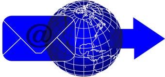 Posta e mondo illustrazione vettoriale