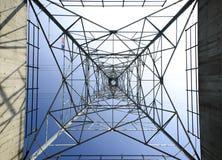 Posta elettrica ad alta tensione Fotografia Stock