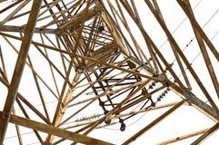Posta elettrica di alta tensione della torre Fotografie Stock Libere da Diritti