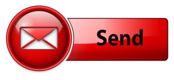 Posta, icona del email, tasto Fotografia Stock