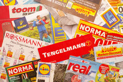 Posta indesiderata tedesca Immagine Stock