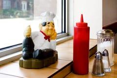 Postać kucharz z utencils Fotografia Royalty Free