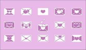 Posta kuvertet Fotografering för Bildbyråer