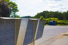 Posta metallica delle cassette delle lettere Fotografia Stock