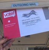 Posta nell'elezione di voto di U.S.A. del voto fotografie stock