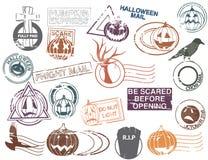 Posta prima di Halloween Immagine Stock