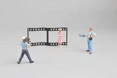 postać robi film film z powrotem gruntuje Zdjęcia Stock