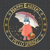 Posta stamp-06 di Pasqua Fotografia Stock