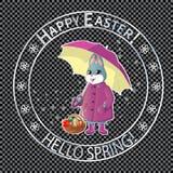Posta stamp-04 di Pasqua Fotografia Stock