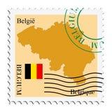 Posta to/from il Belgio Immagini Stock Libere da Diritti