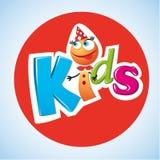 Postać z kreskówki dzieciaków logo Fotografia Royalty Free