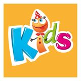 Postać z kreskówki dzieciaków logo Zdjęcia Stock