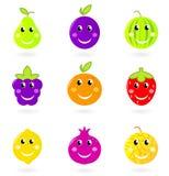 postać z kreskówki fruit ikony ja target2313_0_ ustalony Obraz Stock