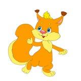 Postać z kreskówki rozochocona wiewiórka Wiewiórka z sumiastym ogonem wektor Zdjęcia Royalty Free