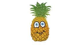 Postać z kreskówki w formie ananasowej ilustraci Zdjęcie Stock