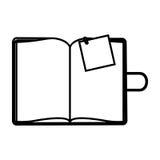 postaci agenda z dużą papier notatką ilustracji