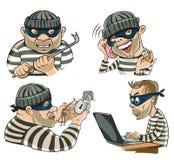 Postaci cztery złodzieje ilustracji