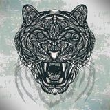 Postaci dzikiego zwierzęcia wektorowy tygrys Obraz Royalty Free