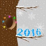 Postaci 2016 koszt na gałąź drzewo Zdjęcia Stock