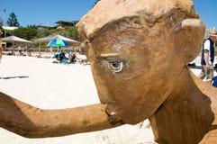 Postaci rzeźba: Twarz szczegół Zdjęcie Royalty Free