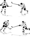 postacie hokeja lód Zdjęcia Stock