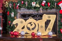Postacie 2017 na stole Zdjęcia Stock