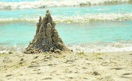 Postacie od piaska na plaży Fotografia Royalty Free